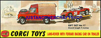 Corgi Toys Land Rover Ferrari Gift Set GS 17 Large Poster Advert Sign Leaflet