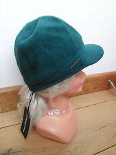 Seeberger 100% PURA LANA NUOVA VERDE bollita hanno raggiunto l'apice della PAC BAKER BOY HAT 54cm piccole