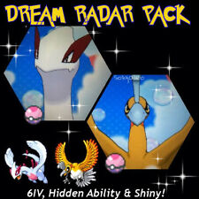 Ultra Pokemon Sun and Moon Dream Radar Bundle Lugia Ho-oh 6IV EV Trained