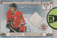 Amonte/Mironov 2002 Titanium Private Stock Double-Sided Jersey Card Blackhawks