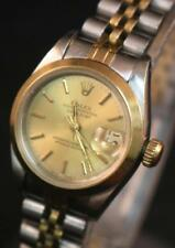 VINTAGE 18K GOLD & Bracciale in Acciaio Orologio Rolex donna Oyster Perpetual Datejust