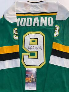 Mike Modano Autographed Signed Custom Dallas Stars Hockey Jersey JSA  HOF COA