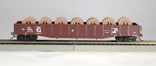 HO 54Ft Gondola Conrail Q (Tuscan) w/Fiber Optic Cable Reel Load,(1-92117)