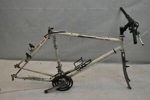 "1990 World Team MTB Bike Frame Set 21"" XLarge Hardtail Rigid Steel Canti Charity"