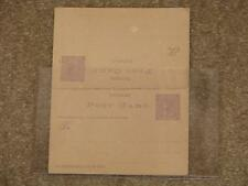 Australia-Victorian Post Card-Victoria One Cent/with Reply Card Attached