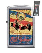 Zippo 207 OLD SCHOOL RACING fourth gear racers vintage Lighter + FLINT PACK