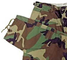 Army Trousers Pants Size 29 x 29 Woodland Camouflage Pattern Combat Green USA
