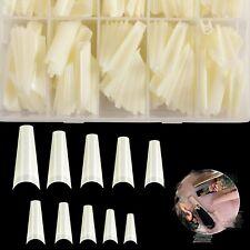 Natural Acrylic Nail Tips - French Nail Tips Coffin Fake Nails 500pcs No Crea.