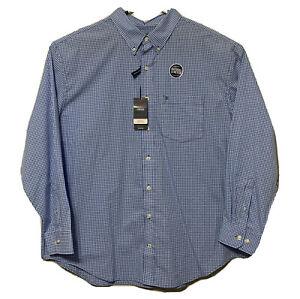 IZOD Men's Sz 2XL Button Down Dress Shirt L/S Premium Essentials Natural Stretch