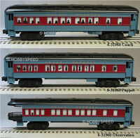 LIONEL POLAR EXPRESS PASSENGER CARS SET OF 3 train coach puppet obs 6-31960 P NB