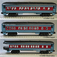 LIONEL POLAR EXPRESS PASSENGER CARS SET OF 3 train coach puppet lit 6-31960 NEW