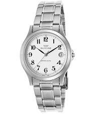 Glycine Men's White Dial Stainless Steel Swiss Quartz Watch 3690-14-SAP-MB