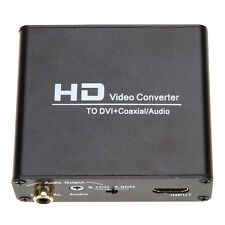 HDMI to DVI cable converter+coaxial &stereo audio output with power supply