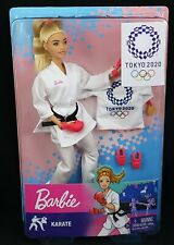 Barbie Karate 2020 Tokyo Olympics Games Doll with Gold Medal and Jacket