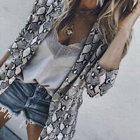 Fashion Womens Lady Slim Fit Long Sleeve Casual Blazer Suit Jacket Coat Outwear