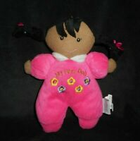 STEPHAN BABY GIRL MY FIRST DOLL PINK FLOWERS STUFFED ANIMAL PLUSH TOY RATTLE