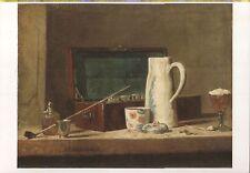 Alte Kunstpostkarte - Jean-Siméon Chardin -La tabagie, dit pipes et vase à boire
