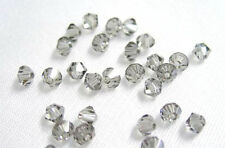 24 BLACK DIAMOND SWAROVSKI # 5301 BICONE BEADS 4MM