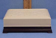 Vintage Bakelite Luxor Plastic Playing Card Box Trinket Jewelry Ivory Brown
