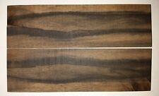 Ebenholz Mun Messergriffschalen 130 x 40 x 5mm