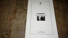 L' EXORCISTE !  scenario dossier presse cinema  20 pages