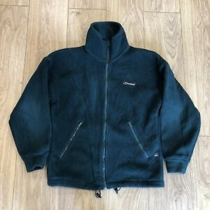 Womens Vintage Zip Up Fleece Jacket S Small Berghaus Green B6055