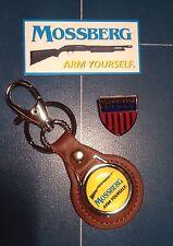 Mossberg Real Leather Keyrings, Mossberg 2017 Shot Show Badge + Sticker
