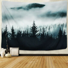 Nature Scenery Fog Pine Tapestry Wall Hanging Tapestry Bedspread Home Decor