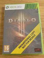 Diablo III 3 (Microsoft Xbox 360) NEW SEALED - FULL GAME PROMO COPY