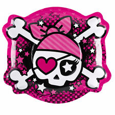 Amscan assiettes en forme de Pirates 6-paper (rose)