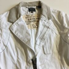 G-Star Raw Womens S Small White 100% Cotton Lightweight Cropped Jacket