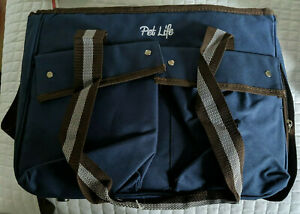 Pet Life 14.2-in x 8-in x 11-in Blue Collapsible Nylon Small Dog/Cat Bag