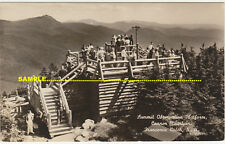 Franconia 1941 Real Photo Summiit Platform Cannon Mountain, People, New H, USA