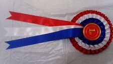 Quality Rosettes Handmade 3 tier various colours (show printing available)