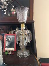 Vintage Glass Chandelier Bedside Lamp