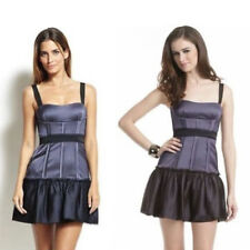 nwot bcbg maxazria mia corset cocktail dress dewberry black purple grey 10