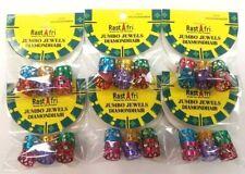 Rast Afri -Tube Dread Lock Metal Cuffs for Braiding Hair Locks Hair Bead 6packs