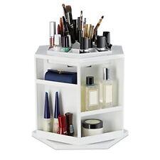 Relaxdays organizador maquillaje giratorio blanco 24x28x27.5 cm