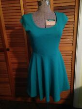 NEW BeBop WOMANS TURQUOISE SHEATH DRESS OVER THE HEAD ABOVE THE KNEE NWT SZ M