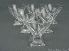 PEILL KARAT WAGENFELD Kristallglas 6 Aperitifgläser Likörschalen 8,5 cm 60er