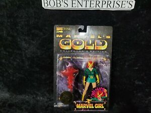 Marvel's Gold Collector's Edition Marvel Girl - New Rare Toy Biz new  bd-503