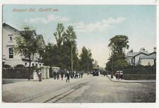 Newport Road Cardiff Vintage Postcard Glamorgan South Wales 750b
