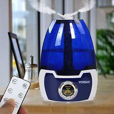 360° Ultraschall Luftbefeuchter mit LCD Display Luftreiniger Ionisator 5,8 Liter