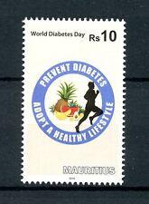 Mauricio 2016 estampillada sin montar o nunca montada Día Mundial de la diabetes 1v conjunto Sellos médica de la salud