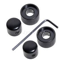2 Set Metallo Nero Doppio Vite Stile Manopola per Doppio Potenziometro Pezzi Di
