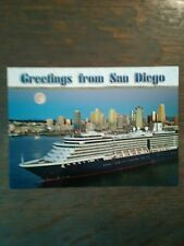 greetings from san diego Photo Post Card Usa Ship In Harbor