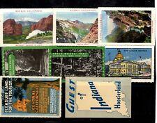 Usa - collection of 8 Cinderellas - Colarado, Indiana, Boston & California