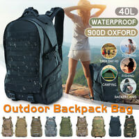 45L Outdoor Military Tactical Backpack Camping Shoulder Pack Hiking Trekking Bag