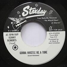 Country Promo 45 Kenny Roberts - Gonna Whistle Me A Tune / Artificial Flowers On