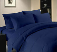 **FREE DELIVERY**Fitted/Flat/Pillow 100% Egyptian Cotton 1000TC NAvy Blue Solid~